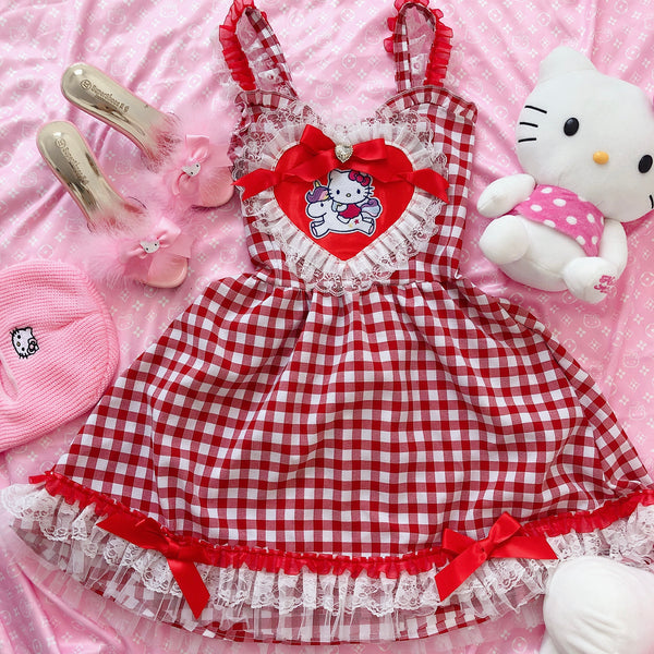 Cherry Pop Kitty Flare Dress