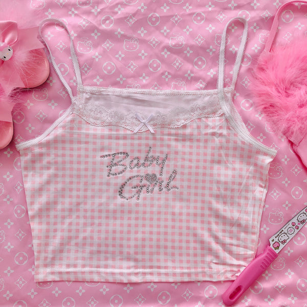 Baby Girl Gingham Crop Cami