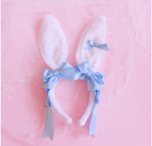 Ribbons Bunny Ears ( Pink/ Blue)