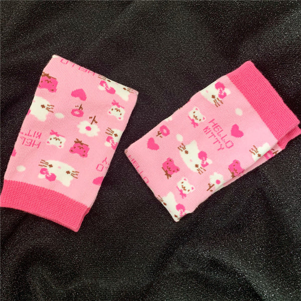 Pink Kitty Arm Sleeves