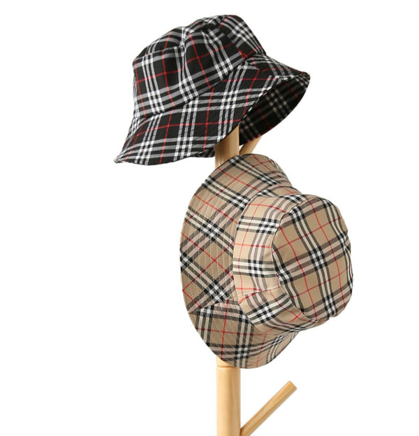 Classic Plaid bucket hat (3 colors)