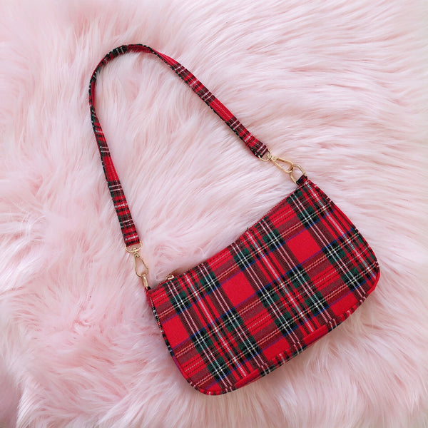 Red Scott Tartan Mini Purse