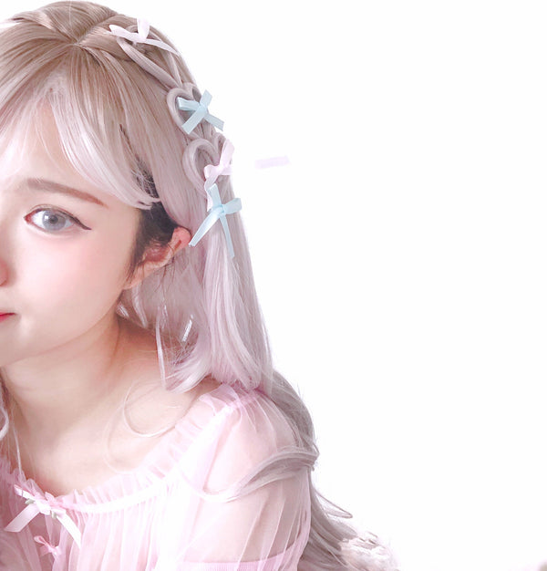 Sakura Latte braided hearts wig