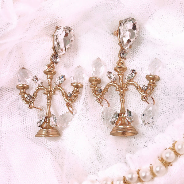 Crystal Light Stand Earrings