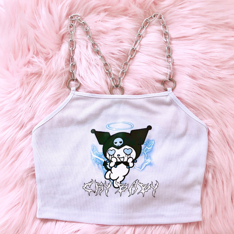 Cry Baby Chained Crop Top