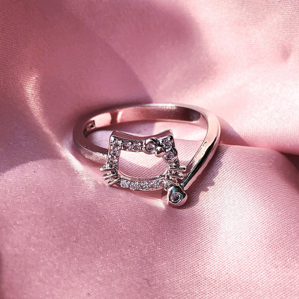 Diamond Kitty Ring