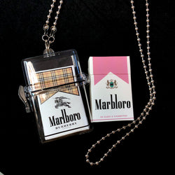 See Through Cigarette Case Clutch