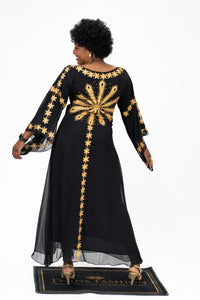 Long Kaftan Sunflower Dress