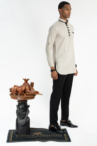 Men Wooden Button Shirt
