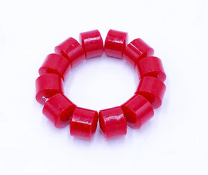 Small Stretchy African Bracelet Red S01