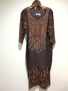 African Embroidery Solid Stone Dress