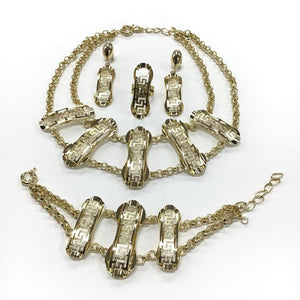 Jewelry set gold S21 gold
