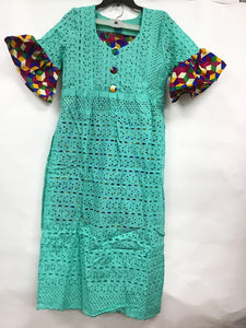 Lace Dress with Multi-Color Design