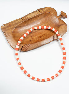 African Necklace Coral Two-Tone
