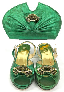 Low Heel Shoe & Bag Set S01
