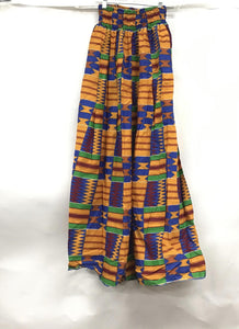 Ankara Long kente Skirt02