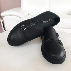 Men Causal Rubber Bottom Leather Shoes