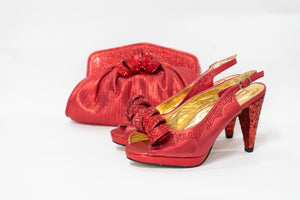 High Heel & Bag Set S07