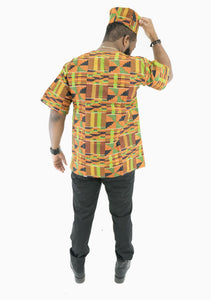 Kente Short Sleeve Top
