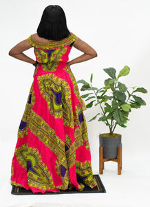 Ankara Dashiki Long Dress Gown