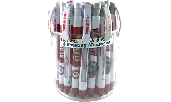 Alabama: University of Alabama Braggin' Rights® Collegiate Value Pack Canister of 36 pens