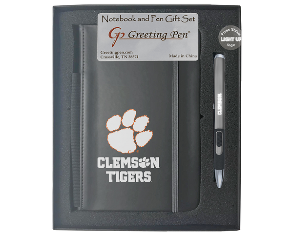 Clemson University Large Notebook Light Up Gift Set