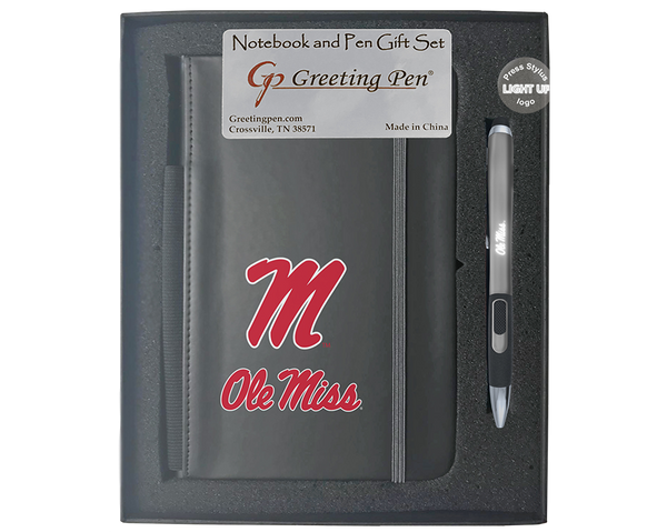 Mississippi: University of Mississippi Ole Miss Large Notebook Light Up Gift Set