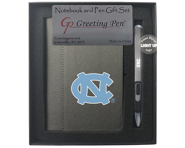 North Carolina: University of North Carolina Small Notebook Light Up Gift Set