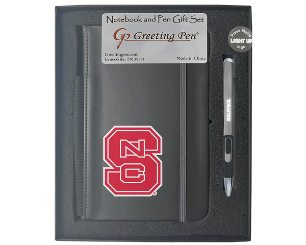 North Carolina State University Large Notebook Light Up Gift Set