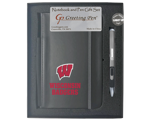 Wisconsin: University of Wisconsin Large Notebook Light Up Gift Set