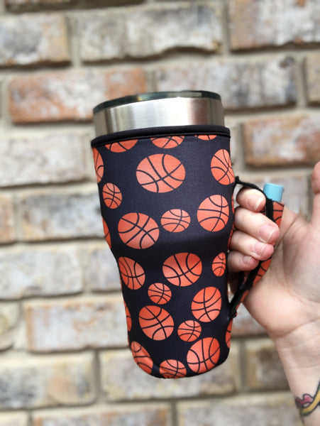 Basketball Lit Handlers 30oz Handler Fits Yeti or Blender Bottles