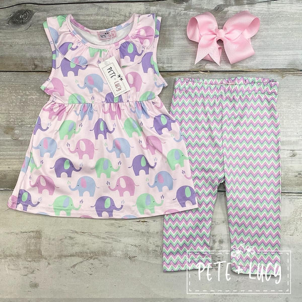 New Ella the Elephant 2pc Capri set