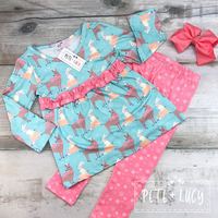 NEW Winter Friends Tunic Pant Set