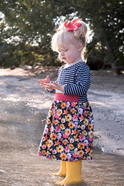 NEW Navy Bright Floral Dress