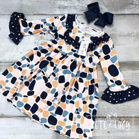 NEW Pebbles Long Sleeve Ruffle Dress