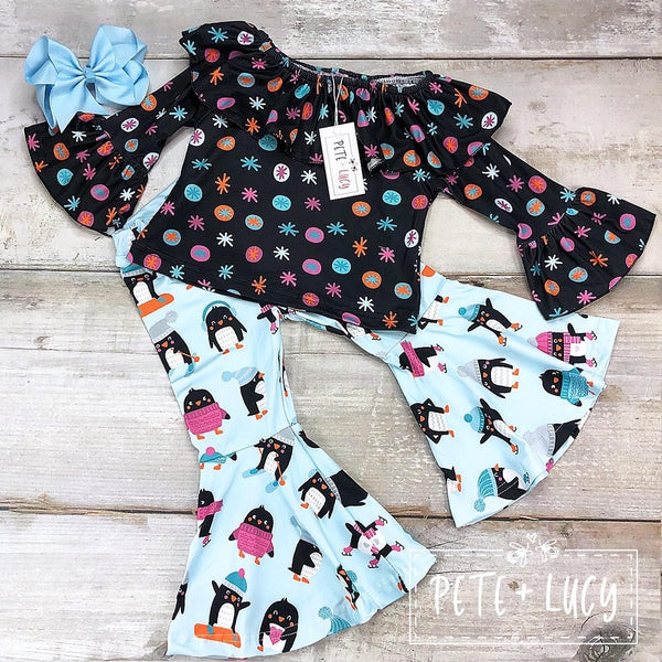 Penguin Party Bell Pants Set
