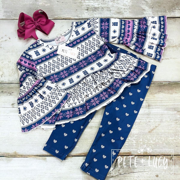 Nordic Bell Top & Pants Set