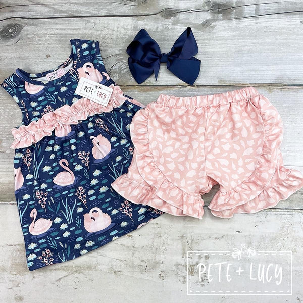 NEW Swan Lake Ruffle Shorts Set