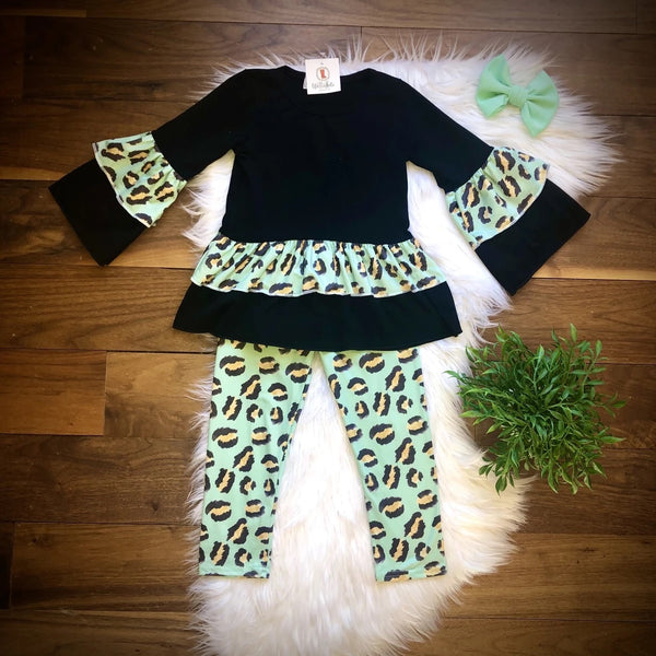 NEW Mint Leopard Pants Set