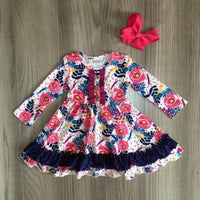 NEW Chloe's Garden Long Sleeve Ruffle Dress