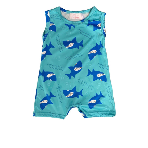NEW Boys Sharky Shorty One Piece Romper