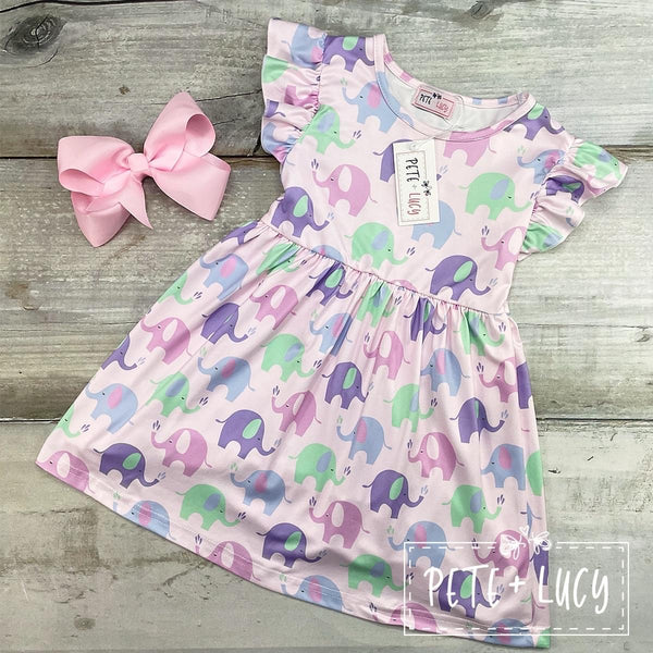 NEW Ella The Elephant Ruffle Flutter Dress