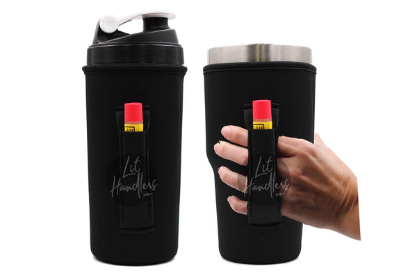 Lit Handlers Black 30oz Handler Fits Blender Bottles & Yeti