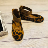 Leopard Suede Ballet Flats shoes Clearance
