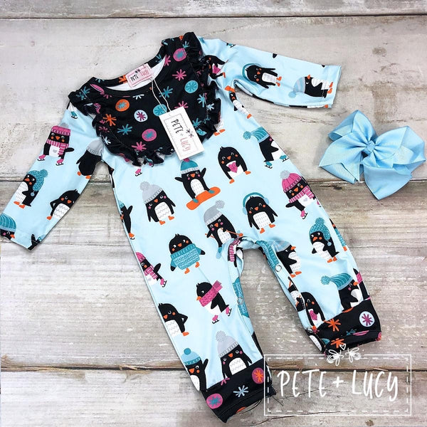 Penguin Party Infant Romper Clearance