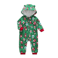 Infant Boy Christmas Fleece Romper