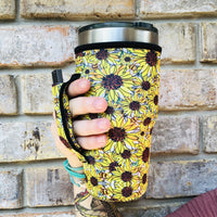 Lit Handlers Sunflowers & Bees 30oz Handler Fits Yeti and Blender Bottles