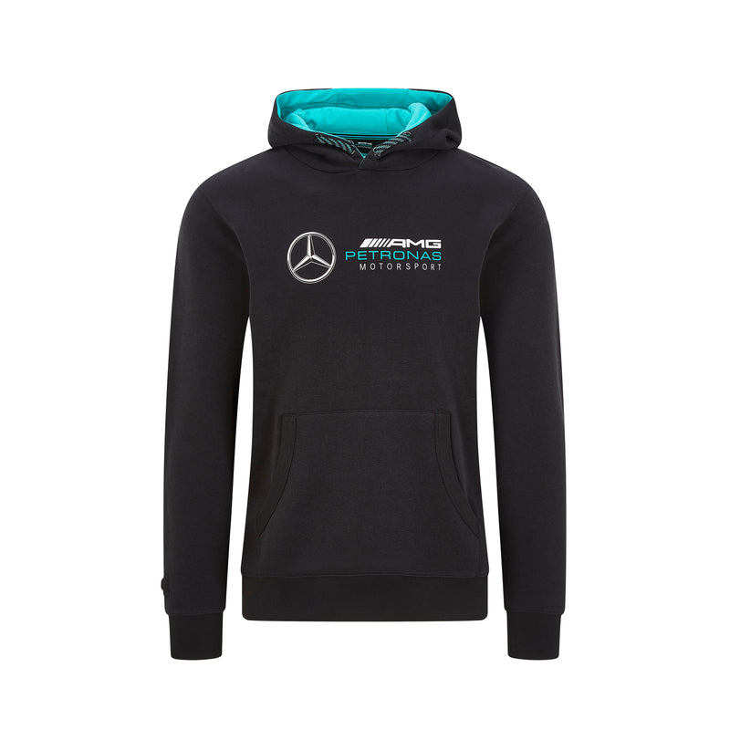 Mercedes Men's Logo Hooded Top-Black