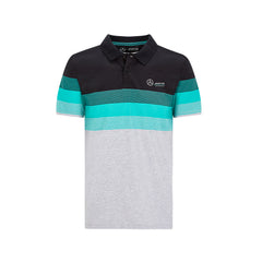 Mercedes Men's Striped Polo