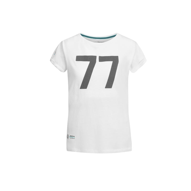 MS Womens Bottas 77 Tee - White